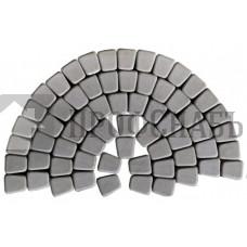 Тротуарная плитка Классико круговая серая (73/110/115*60)