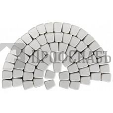 Тротуарная плитка Классико круговая белая (73/110/115*60)