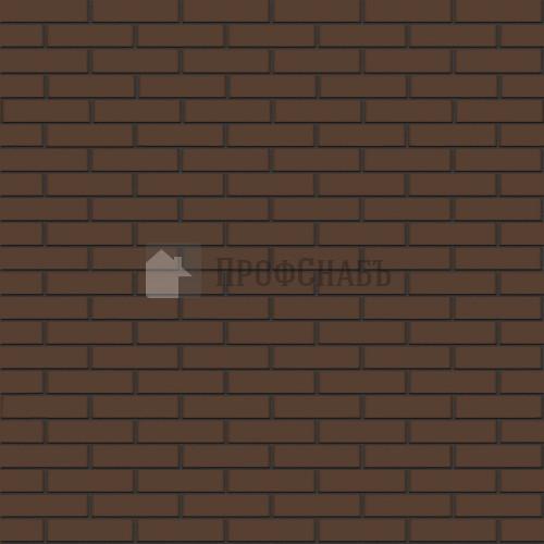 Кирпич Браер облицовочный коричневый гладкий одинарный