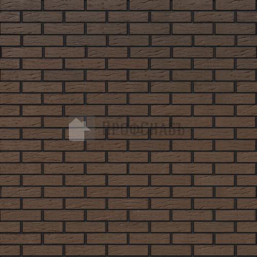 Кирпич Браер облицовочный коричневый рифленый одинарный