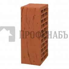 Кирпич Браер облицовочный красный рифленый полуторный