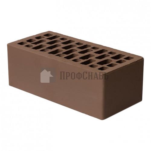 Кирпич Браер облицовочный коричневый гладкий полуторный