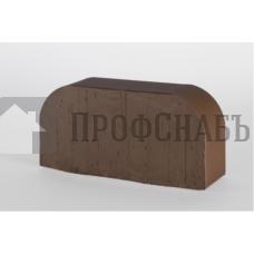 Кирпич печной LODE BRUNIS F14  фигурный коричневый гладкий одинарный