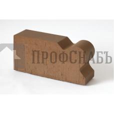 Кирпич печной LODE BRUNIS F20 фигурный коричневый гладкий одинарный