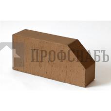 Кирпич керамический печной LODE BRUNIS F6 фигурный коричневый гладкий одинарный