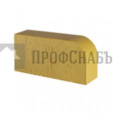 Кирпич печной LODE F15 DZINTRA R-60 фигурный темно-желтый гладкий одинарный