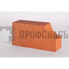 Кирпич печной LODE JANKA F13 фигурный красный гладкий одинарный