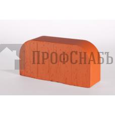Кирпич печной LODE JANKA F14 фигурный красный гладкий одинарный