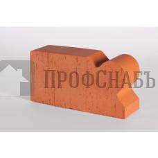 Кирпич печной LODE JANKA F20 фигурный красный гладкий одинарный