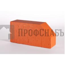 Кирпич печной LODE JANKA F6 фигурный красный гладкий одинарный