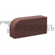 Кирпич печной КС-КЕРАМИК ТЕМНЫЙ ШОКОЛАД R-60 фигурный гладкий одинарный