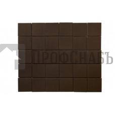 Тротуарная плитка Лувр коричневая (100/100*60)