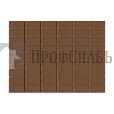 Тротуарная плитка Браер Прямоугольник коричневая (200/100*40)