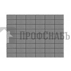 Тротуарная плитка Браер Прямоугольник серая (200/100*40)