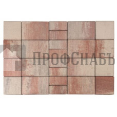 Тротуарная плитка Браер «Мозаика» Color Mix «ФЛАМИНГО»