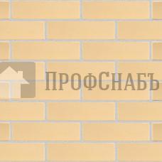 Кирпич Железногорский облицовочный соломенный половинка гладкий