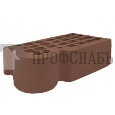 Кирпич Железногорский темно-коричневый одинарный КФ-3