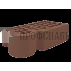 Кирпич Железногорский темно-коричневый полуторный КФ-3